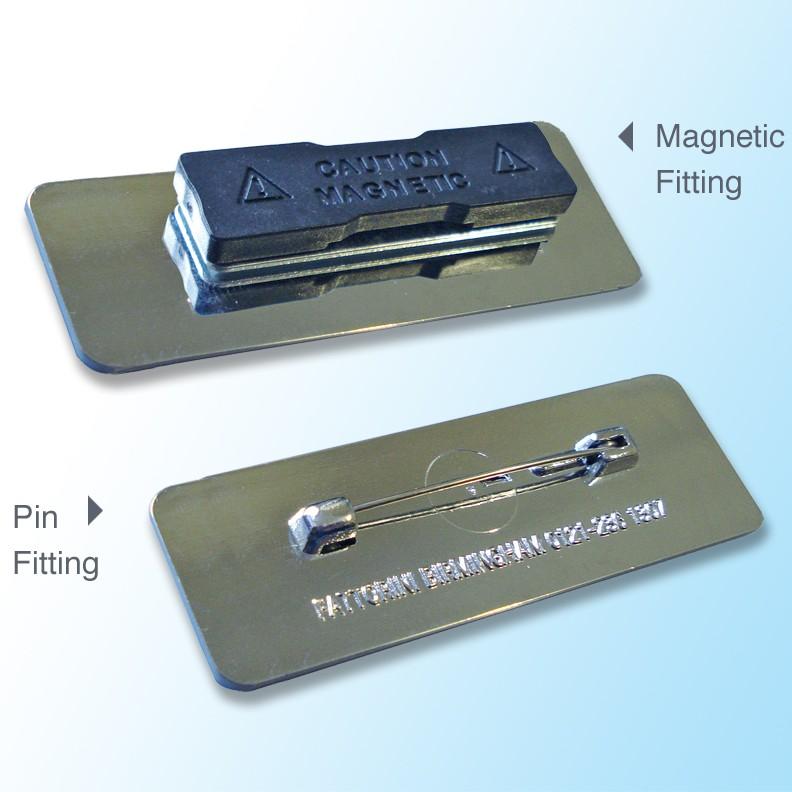 Rectangular Badge 72x22mm H2 Gold Or Chrome Frame 2