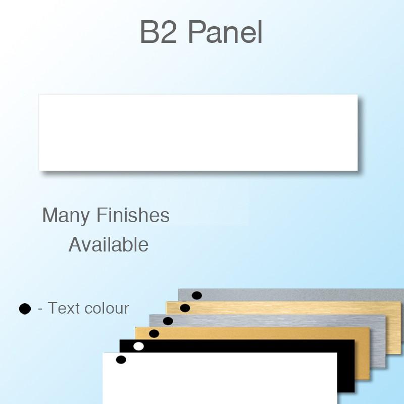 Engravable Panel to fit  Moulded Badge Frame 70x21mm