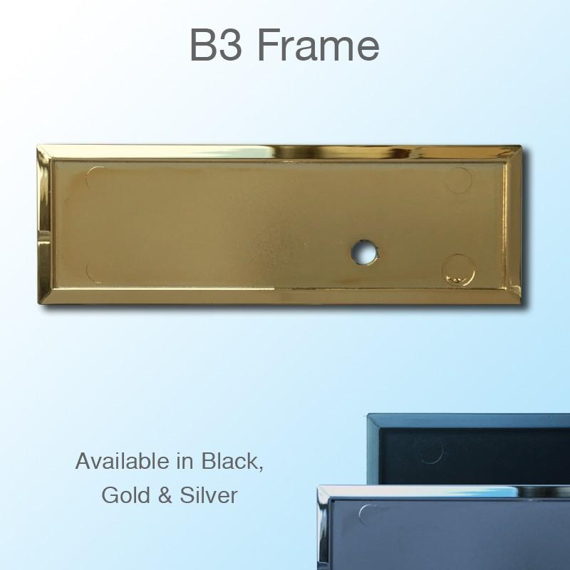 Gold Rectangular Staff Badge Frame 75x25mm