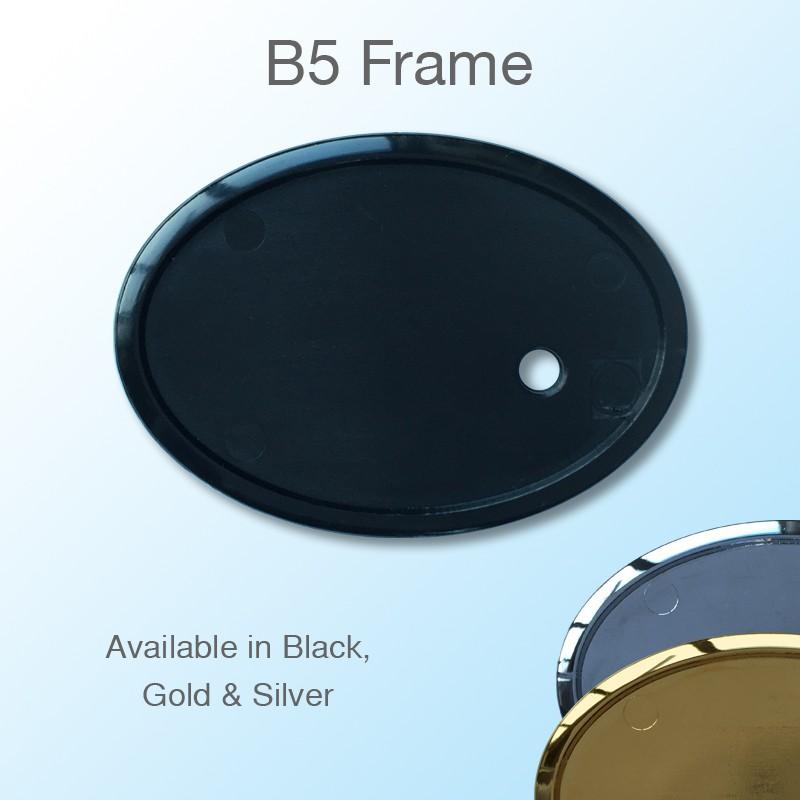 Oval Staff Badge Frame