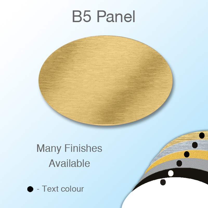 Engravable Panel to fit  Oval Moulded Badge Frame 55 x39mm