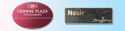 Coloured Rectangular Frame Badges–Robust