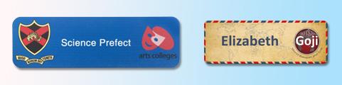Coloured Rectangular Frame Badges