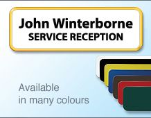 75x25mm 2lines of personalisation colour name badge