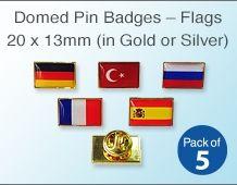 Domed Lapel Flag Pin Badge