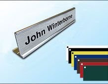 Desk Nameplate and Holder (small) 152mm x 32mm