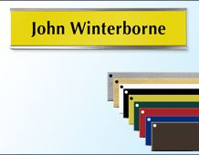 Door Nameplate and Holder (large) 254mm x 51mm