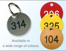 Engraved Key Tag 40mm diameter