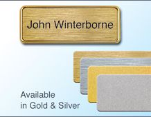 58x22 gold/silver name badge