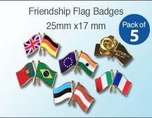 Twin Flag Lapel Badges