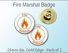 Fire Marshal Badges  (pack of 2)