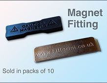 Badge Magnet Fitting 45mm x12mm (with easy fix tape)