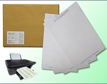 Extra Paper Pack 70x40mm (Snap Fit) - White