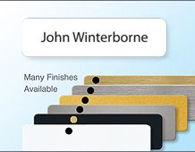 Personalised panel badge executive finish 68x19mm 1 line of text