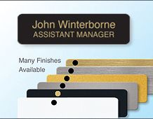 Executive panel badge 68x19mm personalised with 2 lines
