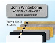 Executive style panel badge with 3 lines of text 73x23mm