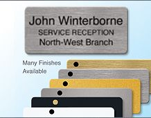 72x33mm panel badge 3 lines of text executive finish