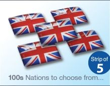 Pack of 5 UK Flag Stickers