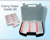 Badge case with tray for 100x65 Nameholder badges