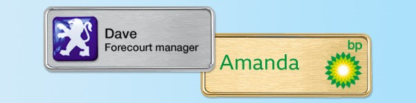 Oval or Rectangular executive name badges