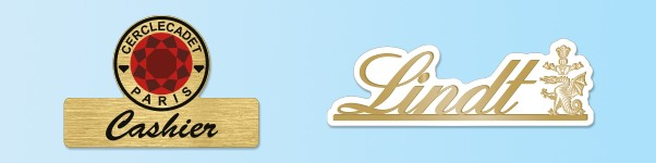 Contact us about oval or rectangular metal staff badges